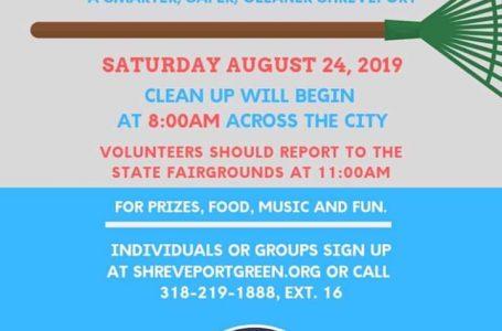 Día de limpieza programado para la ciudad de Shreveport