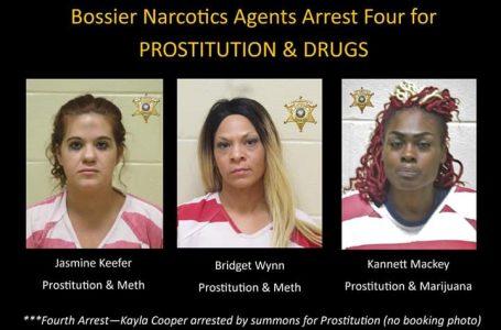 Arrestadas por Porstitucion y Drogas