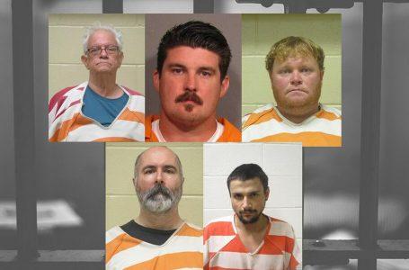 7 hombres acusados de delitos sexuales que involucran niños