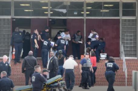 13 llevados a hospitales locales de  Broadmoor Middle