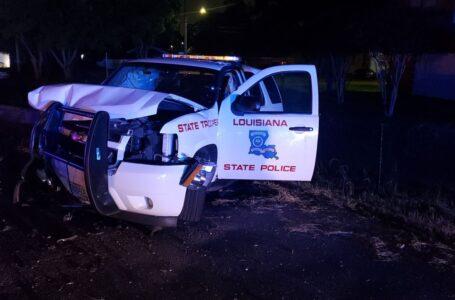 Conductor ebrio es arrestado después de chocar contra una patrulla del estado